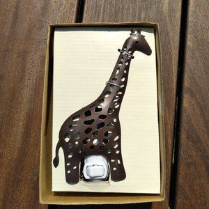 Metal Giraffe Night Light